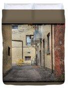 Back Alley Cityscape Duvet Cover