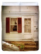 Back Door Of Old Farmhouse Duvet Cover
