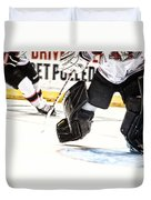 Back To The Crease Duvet Cover