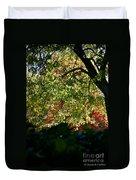 Backlit Autumn Duvet Cover