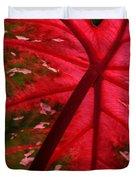 Backlit Red Leaf Duvet Cover