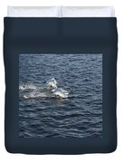 Backlit Swans Duvet Cover