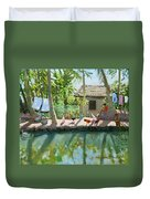 Backwaters India  Duvet Cover