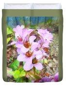 Backyard Blooms Duvet Cover