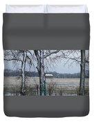 Backyard Panoramic Duvet Cover