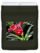 Backyard Red Beauty Duvet Cover