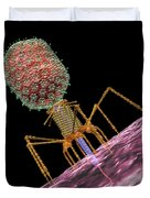 Bacteriophage T4 Injecting Duvet Cover by Russell Kightley