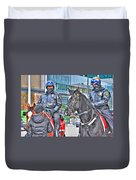 Badges And Horses Duvet Cover