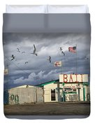 Bait Shop By Aransas Pass In Texas Duvet Cover