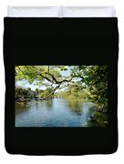 Bakewell Riverside - Through The Branches Duvet Cover