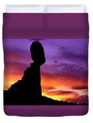 Balanced Rock Sunset Arches Nat.park Duvet Cover