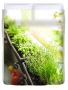 Balcony Herb Garden Duvet Cover by Elena Elisseeva