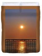 Balcony Sunrise Duvet Cover