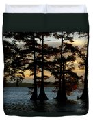 Bald Cypress Trees Growing Duvet Cover