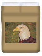 Bald Eagle Embroidered Duvet Cover