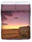Bales At Twilight Duvet Cover by Evgeni Dinev