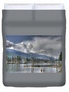 Balfour On Kootenay Lake Duvet Cover