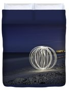 Ball Of Light Marco Island Beach Duvet Cover