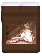 Ballet Dancer Duvet Cover