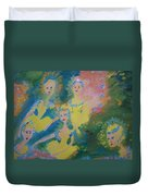 Ballet Of The Blooms Duvet Cover