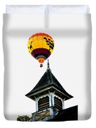 Balloon By The Steeple Duvet Cover
