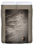 Balloons In The Pines Duvet Cover