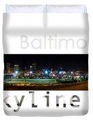 Baltimore Downtown Duvet Cover