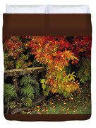 Balustrades & Autumn Colours Duvet Cover by The Irish Image Collection