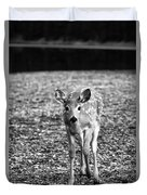 Bambi In Black And White Duvet Cover