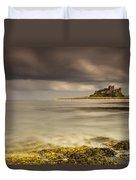 Bamburgh Castle Under A Cloudy Sky Duvet Cover by John Short