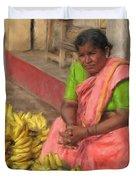 Banana Seller Duvet Cover
