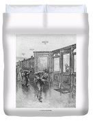 Bank Snatcher, 1890 Duvet Cover