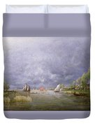 Banks Of The Loire In Spring Duvet Cover
