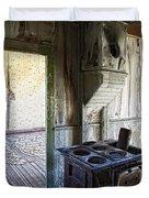 Bannack Ghost Town Kitchen Stove 2 Duvet Cover