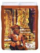 Banteay Srei Statue Duvet Cover