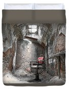 Barber - Chair - Eastern State Penitentiary Duvet Cover