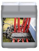 Barbwire Engine Duvet Cover