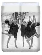Barefoot Dance In The Snow Duvet Cover