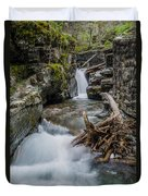 Baring Creek Waterfall And Rapids Duvet Cover