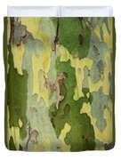 Bark Of A Sycamore Tree Duvet Cover