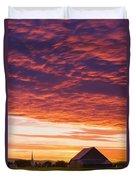 Barley Fields, Barn, Church Duvet Cover