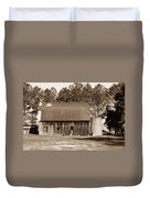 Barn And Silo 1 Duvet Cover by Douglas Barnett