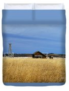 Barn And Windmill Stand Duvet Cover