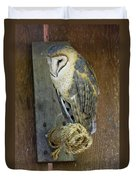 Barn Owl At Roost Duvet Cover