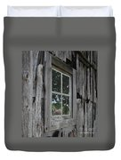Barn Window Reflection Duvet Cover