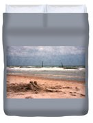 Barnacle Bill's And The Sandcastle Duvet Cover