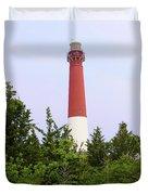 Barnegat Lighthouse Old Barney Long Beach Island Nj Duvet Cover