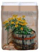 Barrel Of Flowers Duvet Cover