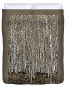 Barren Aspen Duvet Cover