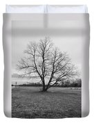 Barren Tree On A Winters Day Duvet Cover